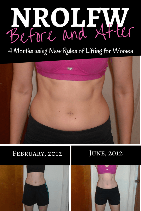 New Rules of Lifting for Women: NROLFW Progress after using the program for four months. For more on women's strength training and other weightlifting resources, check out www.winetoweightlifting.com