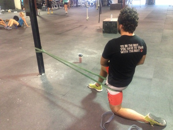 crossfit mobility hips band stretch hip mobility