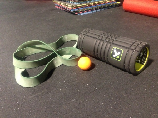 crossfit mobility equipment mobility band foam roller lacrosse ball