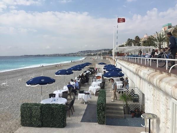 Lunch on the Blue Beach, Nice