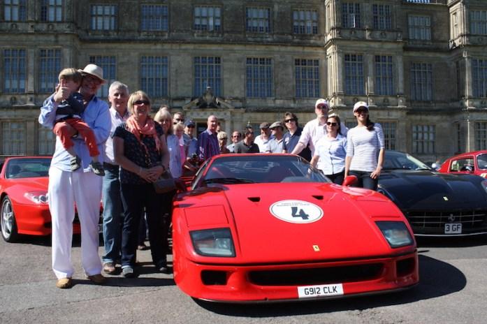Ferraris in front of Longleat House