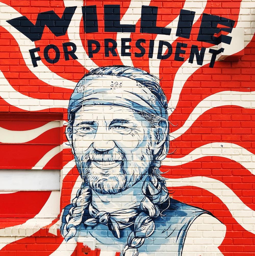 Street Art Austin - Wille Nelson