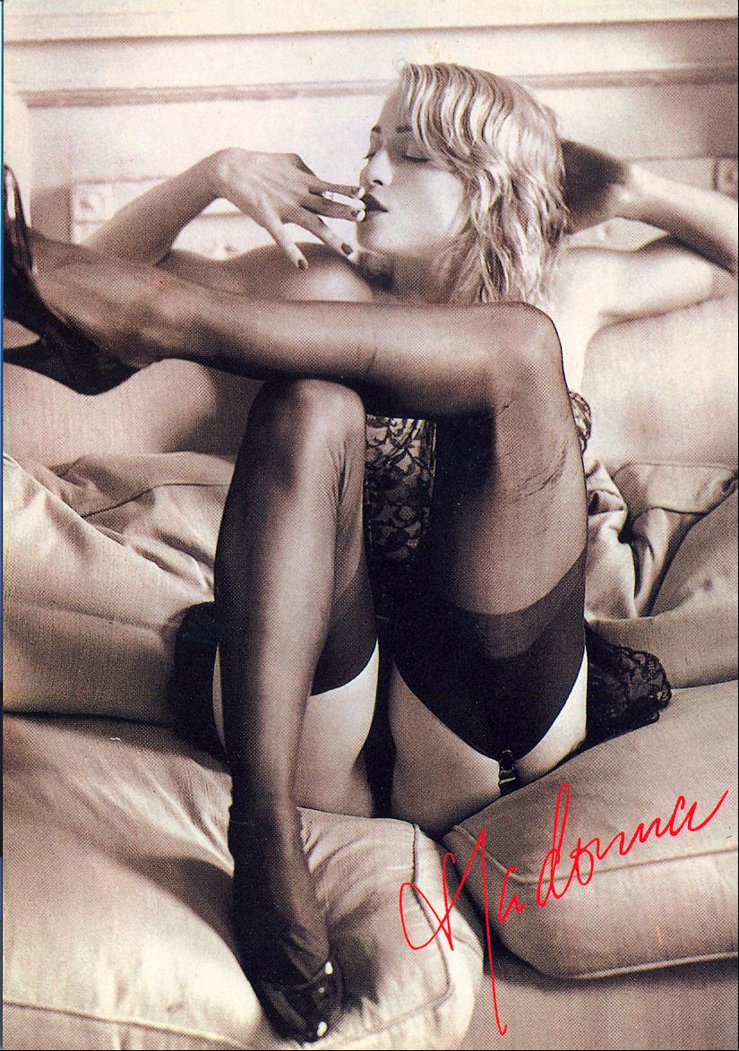 Madonna Smoking