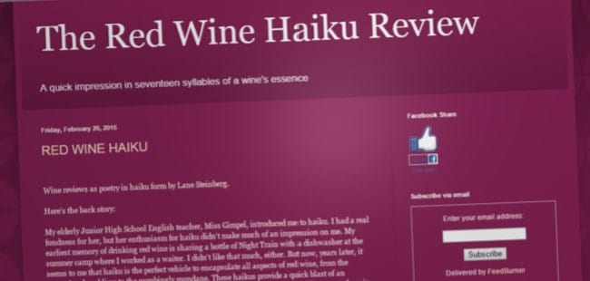 Red Wine Haiku