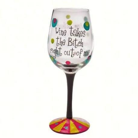 Stemware glass funny wine glass