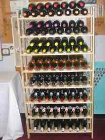 G. E. Lumber 120 Bottle Rustic Wood Wine Rack