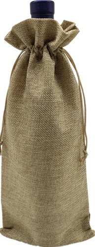 Ankirol 10pcs Burlap Bottle Bags With Drawstring Gift Packaging