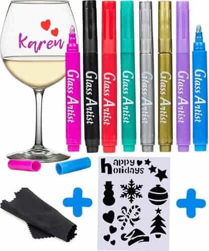 ORIGINAL Glass Artist Wine Glass Markers