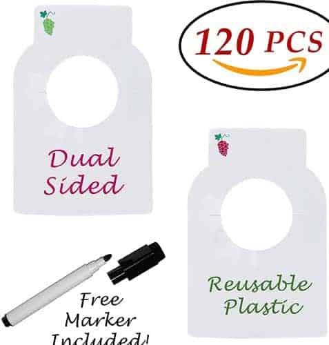 Reusable Plastic Wine Bottle Tags 120