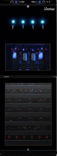 Vinotemp 88-Bottle Dual-Zone Wine Dispenser and Cooler