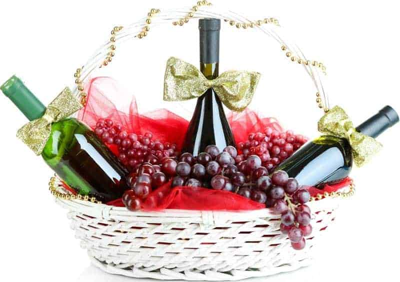 wine chocolate gift baskets