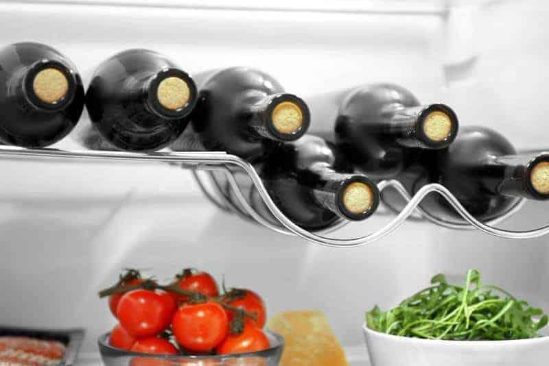 fridge with wine