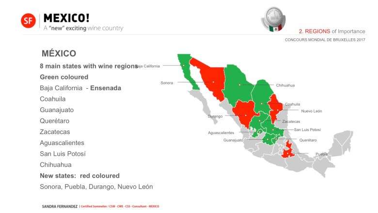 Mexico Wine Producing States