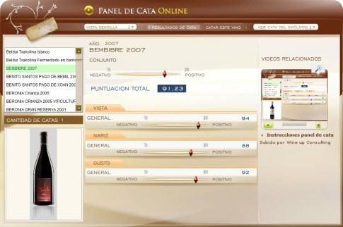 BEMBIBRE 2007 - 91.23 PUNTOS EN WWW.ECATAS.COM POR JOAQUIN PARRA WINE UP