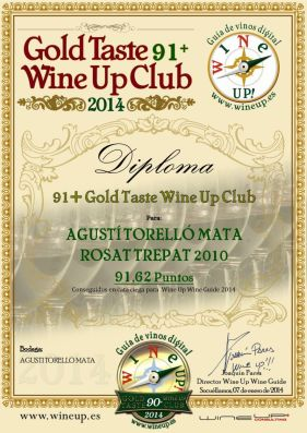 AGUSTI TORELLO ROSAT 2010 212.gold.taste.wine.up.club