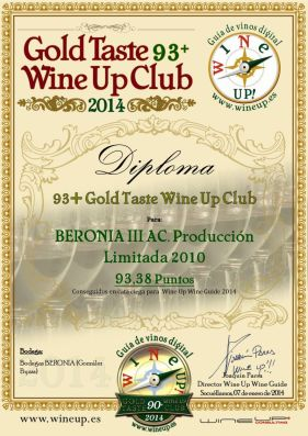 BERONIA GB 83.gold.taste.wine.up.club