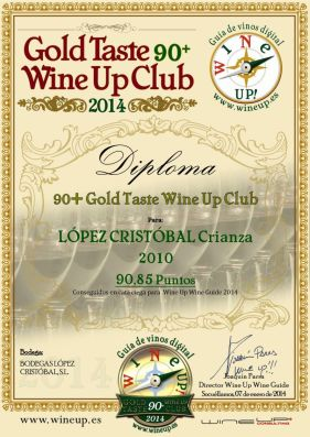 BODEGAS LÓPEZ CRISTOBAL 321.gold.taste.wine.up.club