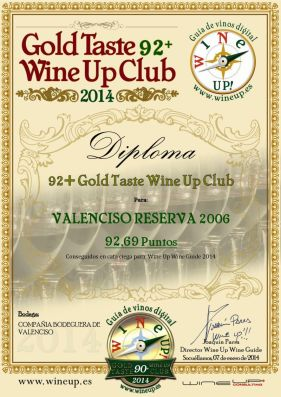 COMPAÑIA BODEGUERA DE VALENCISO 123.gold.taste.wine.up.club