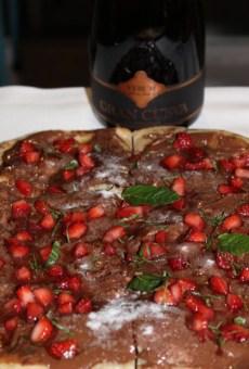 Pizza dulce pecado con Gran Cueva