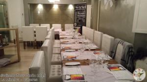 mesa del restaurante La Minerva - Cáceres