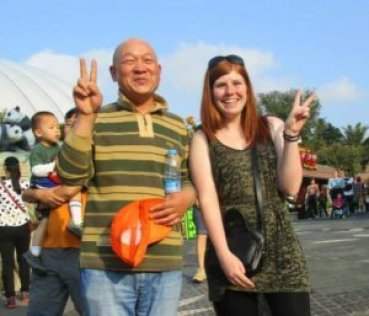 Me with a random Chinese man who wanted his photo taken with me.