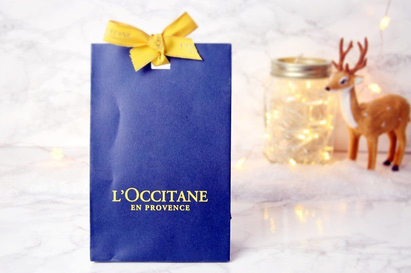 Winter at Rush Hair Salon goodie bag L'Occitane www.wingitwithjade