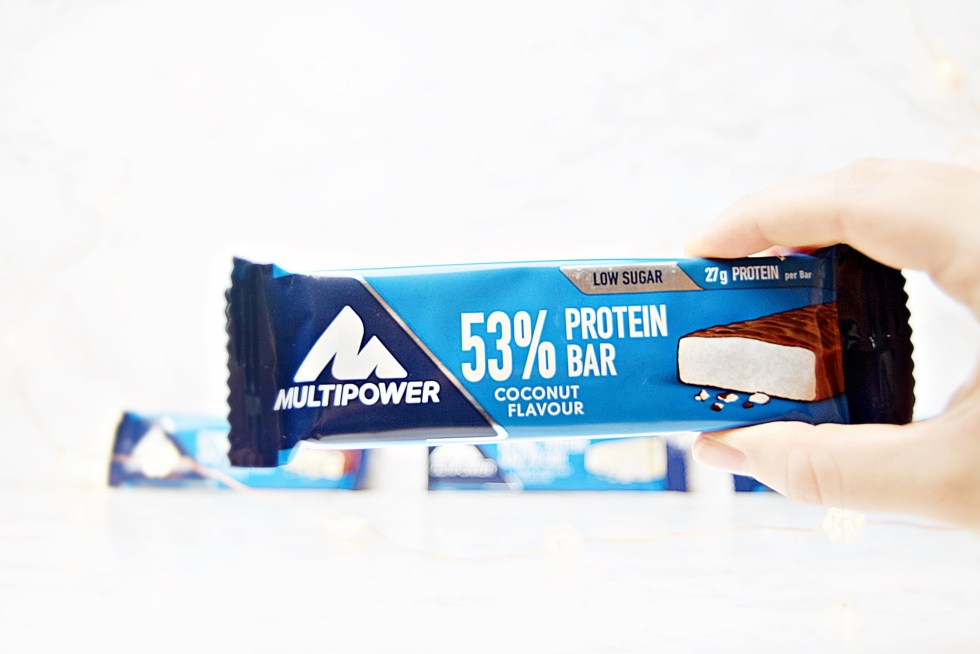 53% Protein Bar - MultiPower Protein Snacks - www.wingitwithjade