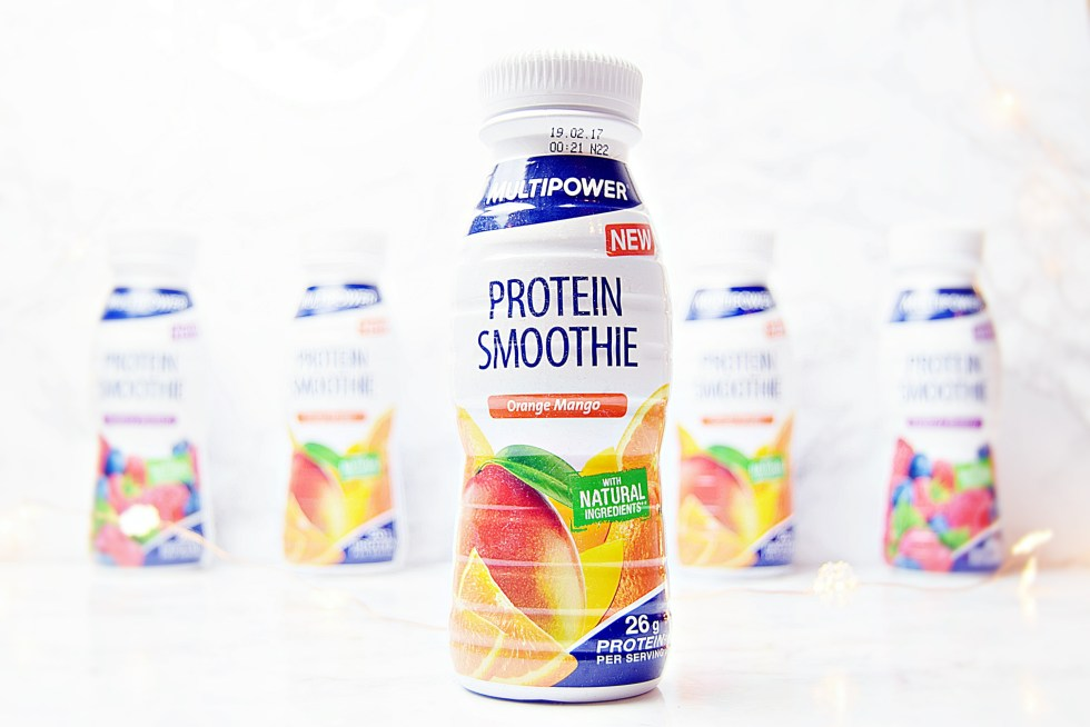 Protein Smoothie - MultiPower Protein Snacks - www.wingitwithjade