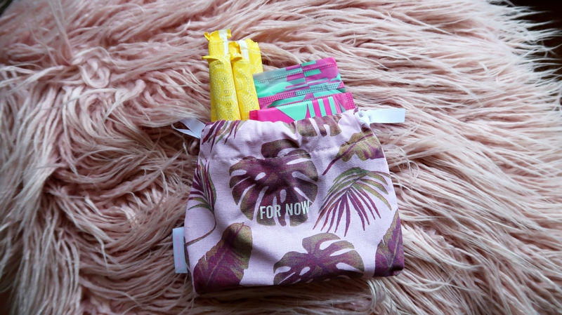Pink Parcel 'For Now' tampons and panty liners