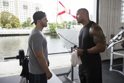 Adam Aalderks and Dwayne Johnson on HBO's Ballers Photo by Jeff Daly/HBO