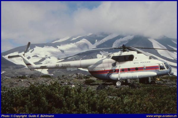 Helicopter and Volcanos