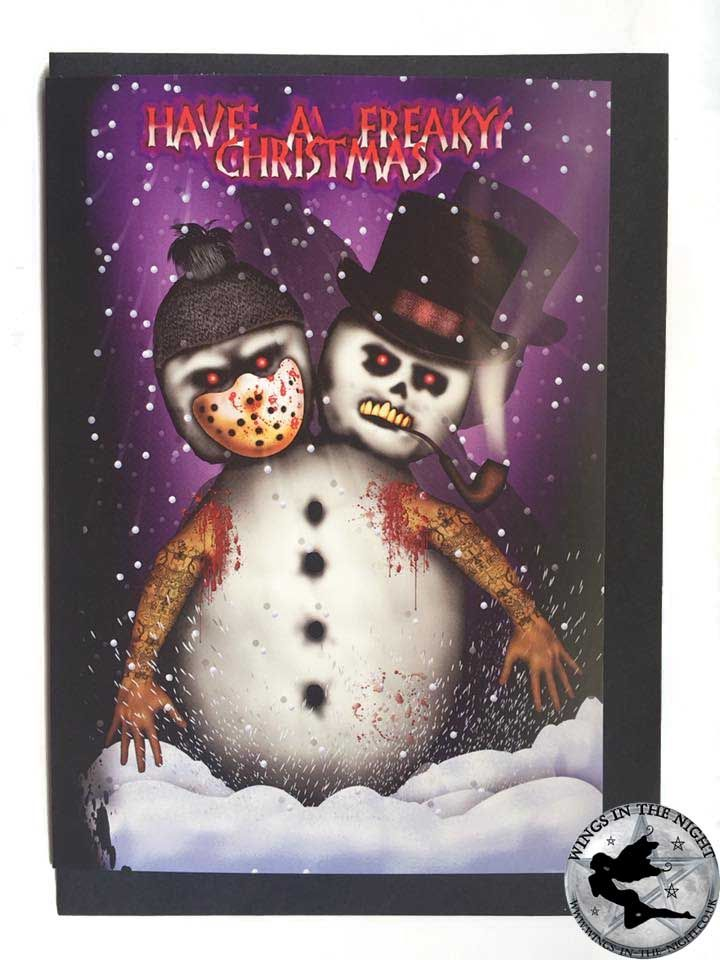 NIGHT MOTH Have A Freaky Christmas Gothic Greeting Card