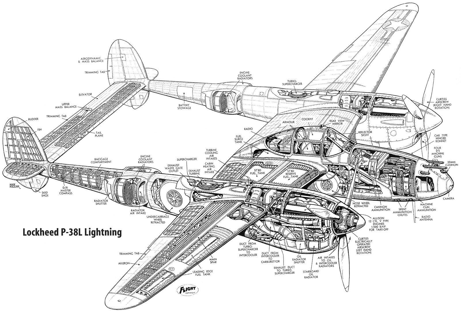 Lockheed P 38 Lightning Ebook Amp Aircraft Flight