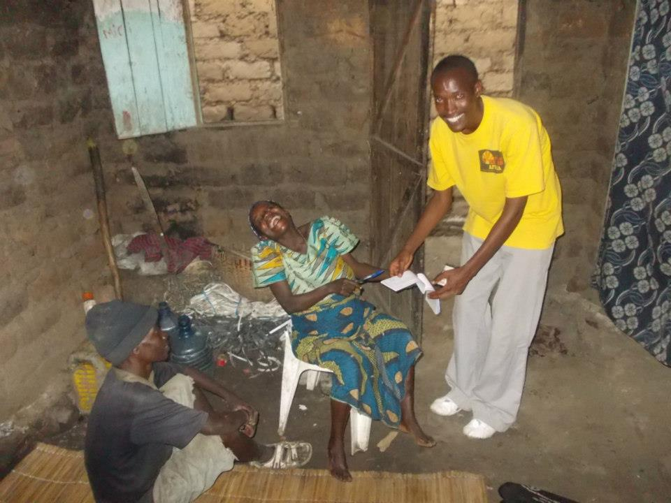 Wings of Hope for Africa on-site staff visits a sponsored family in Buterere, Burundi