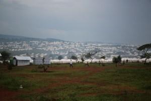 Hundreds of tents at Mahama Camp