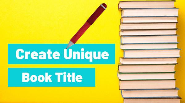 create unique book title