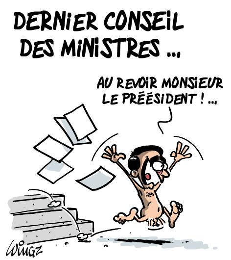 dernier conseil des ministres