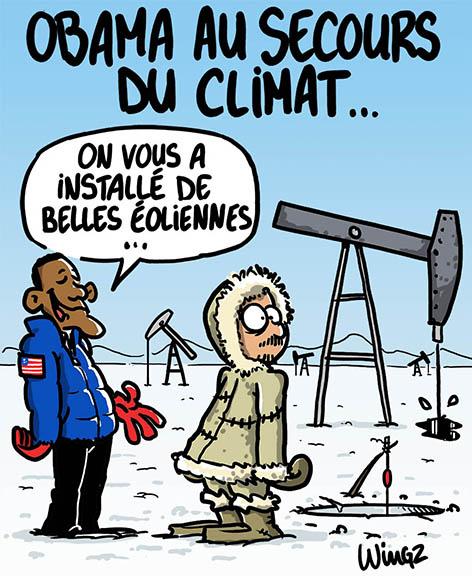 Obama lutte contre le réchauffement climatique éoliennes pétrole