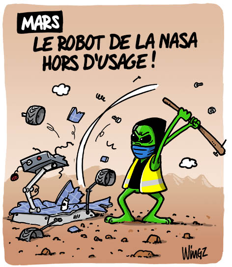 robot nasa mars casseurs gilets jaunes