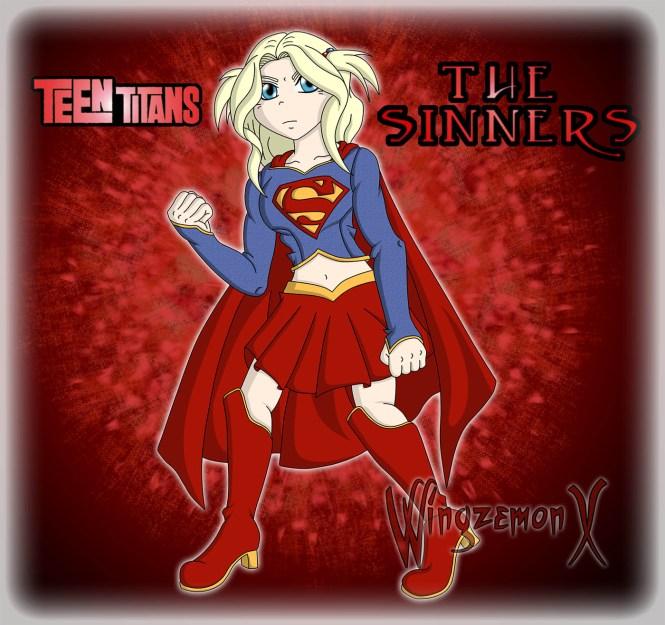 """Segundo diseño de Supergirl para """"Teen Titans: The Sinners"""""""