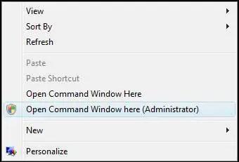 open elevated command prompt desktop