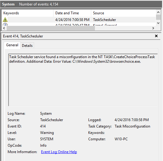 task bvii err I created task for starting transmission-qt at system start i enabled task history and there all seems fine but really program doesn't start in last run result field skip to task scheduler cannot start a task error 0x41301 i faced quite an odd issue i created task for.