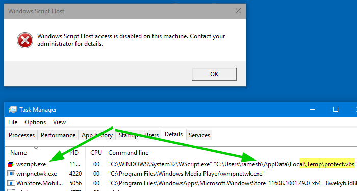 Fix] Windows Script Host Access is Disabled on this Machine