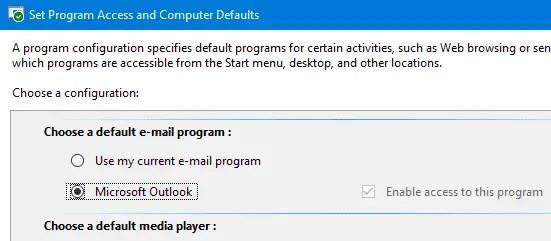 no email program associated