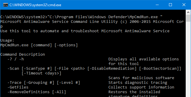 windows defender command-line switches