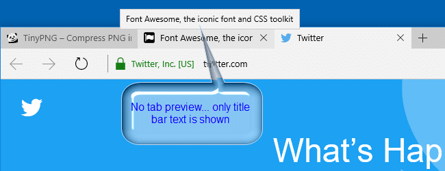 disable tab preview in edge