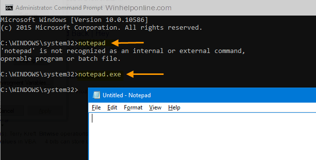cannot run programs without typing .exe extension pathext