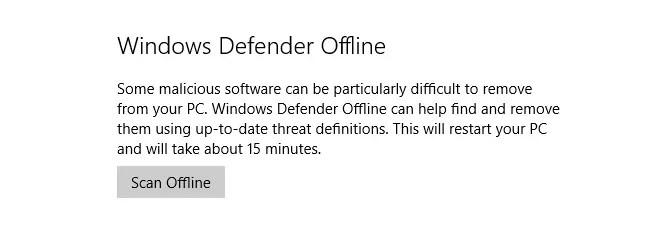 windows defender offline in anniversary update