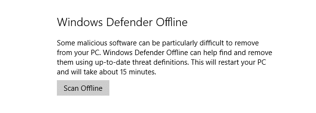 windows defender offline in anniversary update