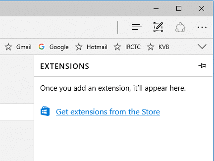 edge extensions install and uninstall
